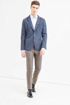 Rumford solid colour wool blend jacket., Blue, hi-res