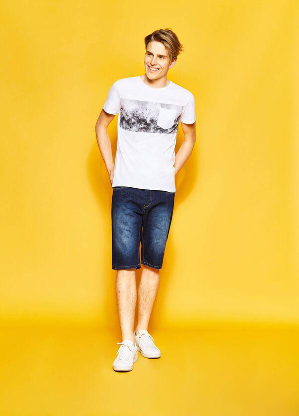 T-shirt in cotone con taschino | OVS