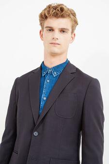 OVS Black 4 Pocket Jacket, Dark Blue, hi-res