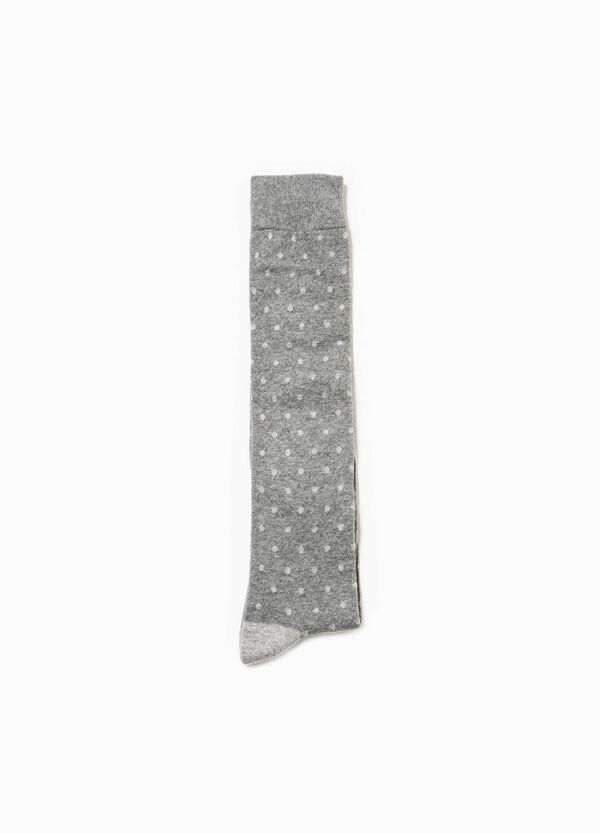 Calcetines largos de lunares en algodón elástico | OVS