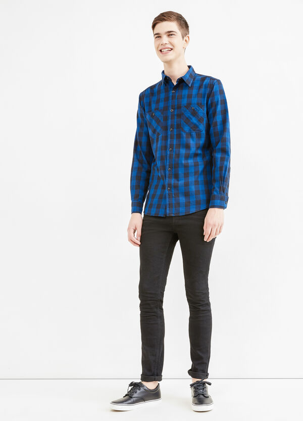 Slim-fit check casual shirt | OVS