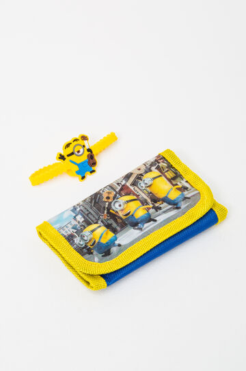 Minions wallet and bracelet set, Yellow, hi-res