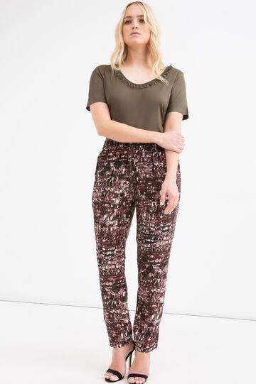 Curvy 100% viscose trousers