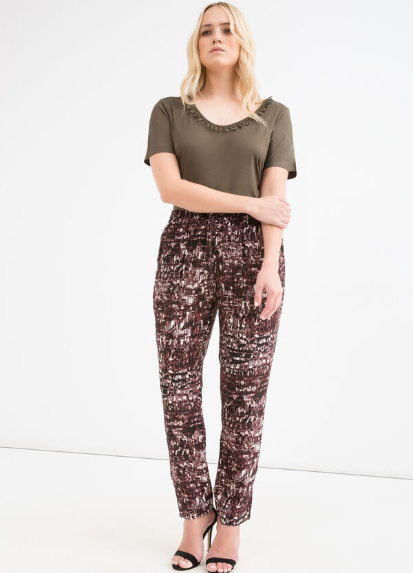 Curvy 100% viscose trousers | OVS