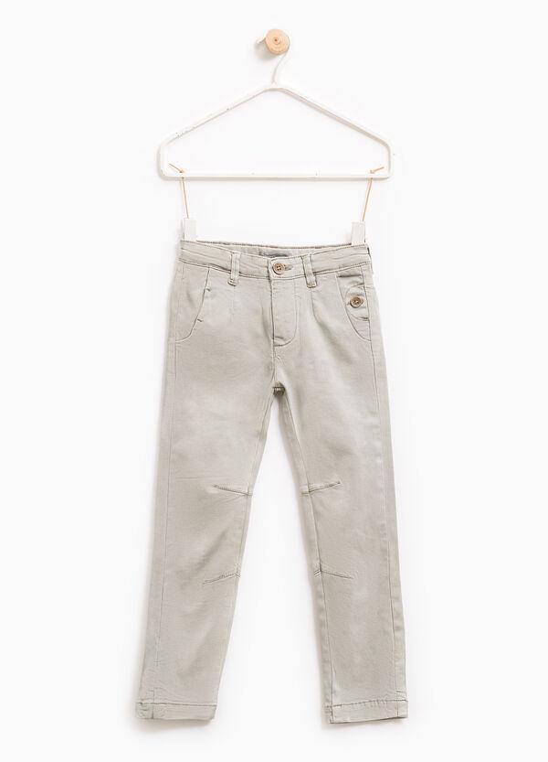 Pantaloni tinta unita cotone stretch | OVS