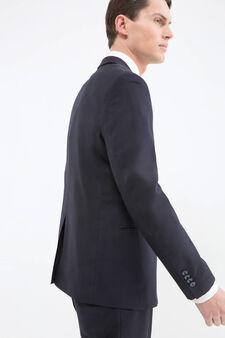 Viscose blend elegant suit, Dark Blue, hi-res