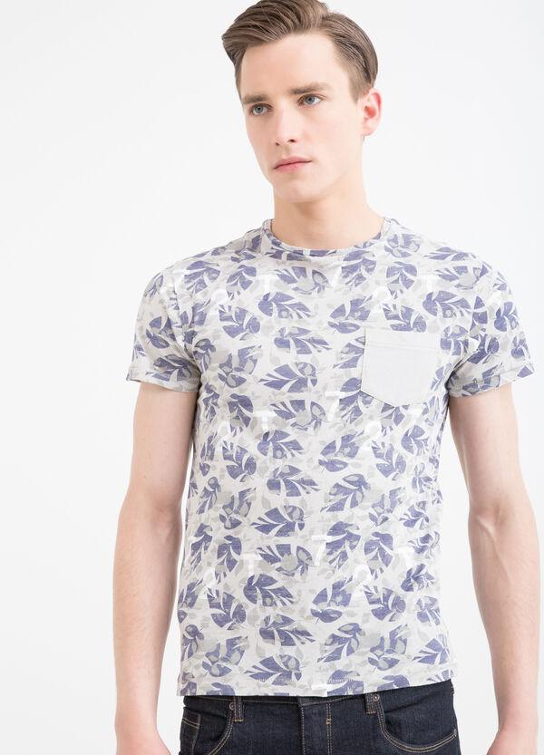 T-shirt cotone fantasia con taschino | OVS
