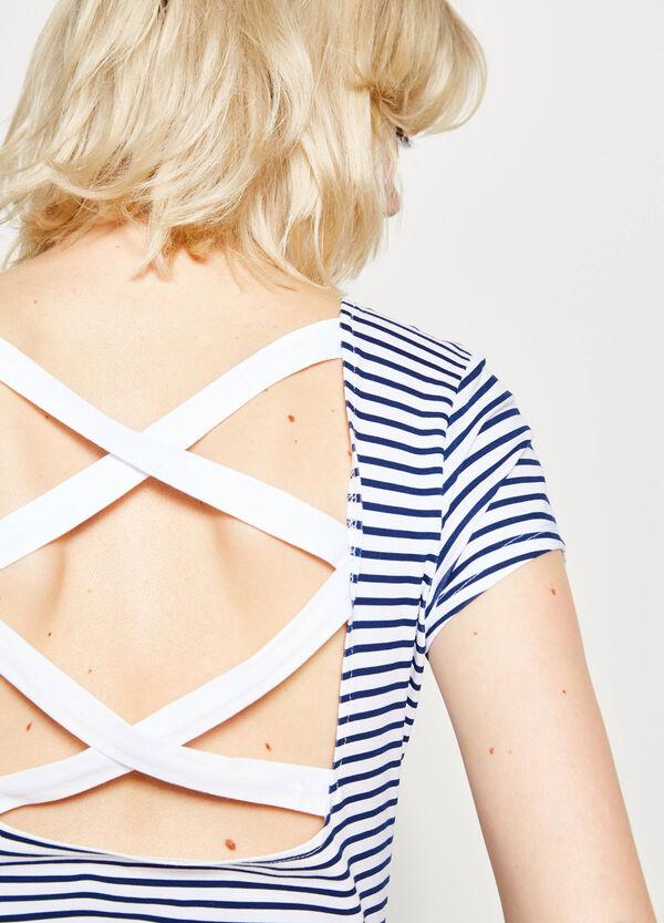 T-shirt a righe con fascette | OVS