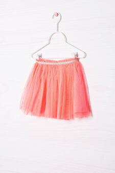 Lined openwork skirt, Neon Pink, hi-res