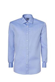 Regular-fit shirt in 100% cotton, Light Blue, hi-res