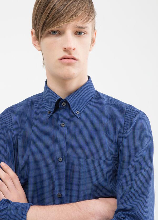 Check slim-fit shirt | OVS