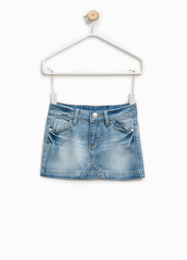 Used-effect denim skirt | OVS