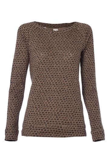 Smart Basic animal print T-shirt in 100% cotton, Black/Green, hi-res