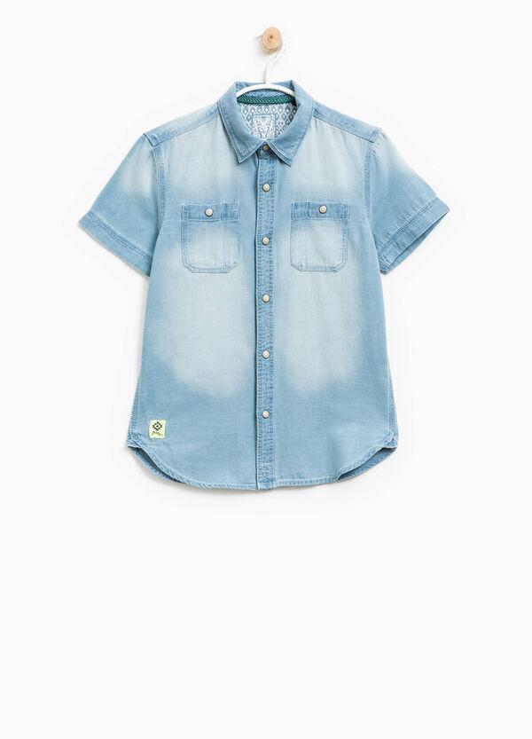 Camicia in puro cotone effetto delavato | OVS