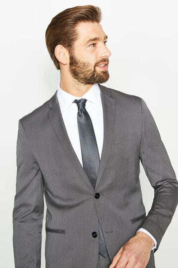 Custom-fit suit in mélange viscose