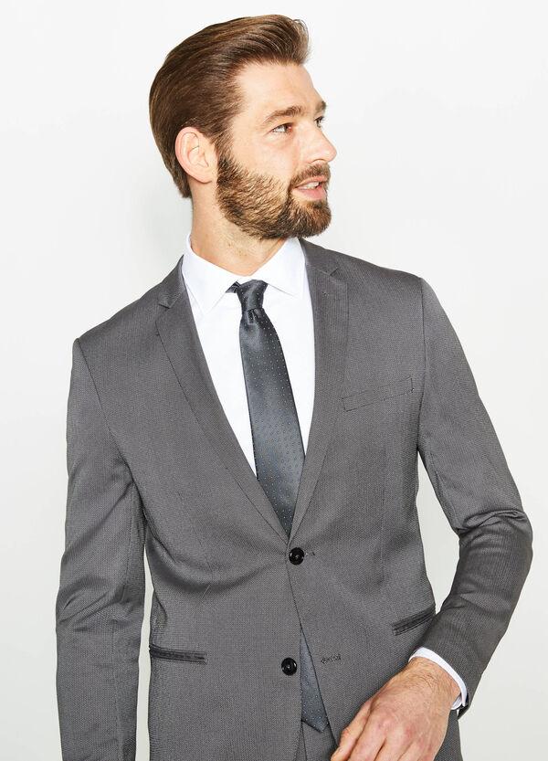 Custom-fit suit in mélange viscose | OVS
