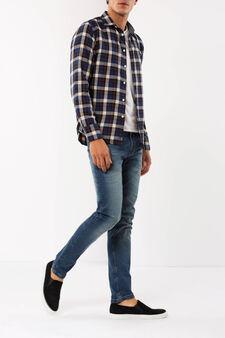 Camicia tartan G&H, Blu/Marrone, hi-res