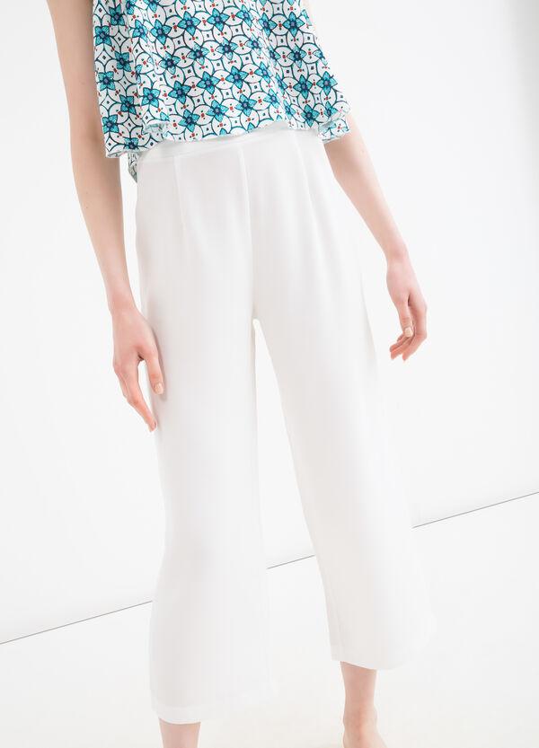 Solid colour Capri pants | OVS