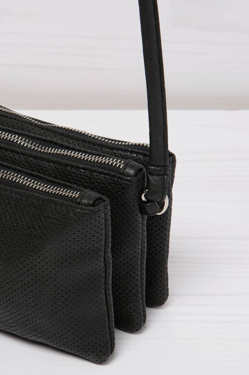 Openwork shoulder bag, Black, hi-res