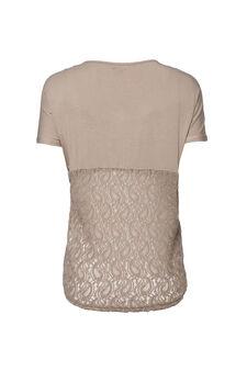 Smart Basic stretch viscose T-shirt, Beige, hi-res