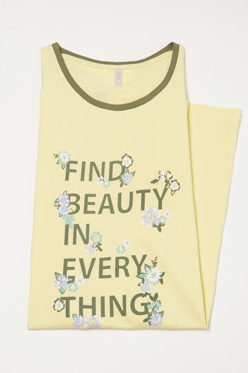 Nightdress with lettering print