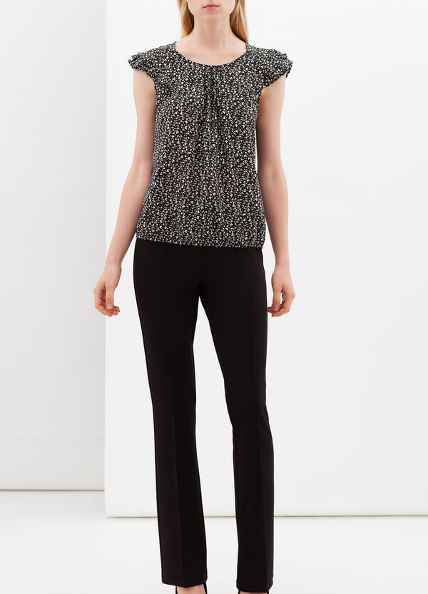 Blouse with flounce sleeves. | OVS