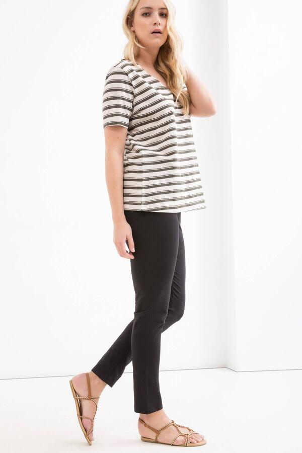 T-shirt cotone righe Curvy | OVS