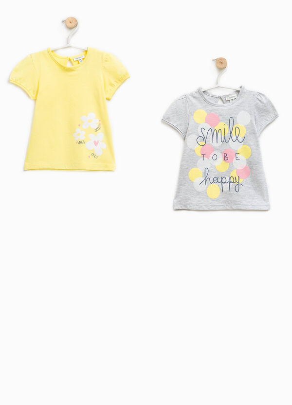 Two-pack printed 100% cotton T-shirts | OVS