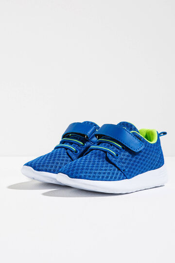 Sneakers with mesh upper, Blue, hi-res