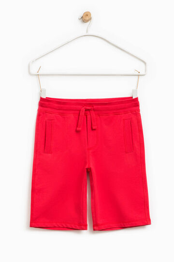Bermuda shorts in 100% cotton with ribbing