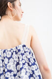 100% viscose top with all-over print, Blue, hi-res