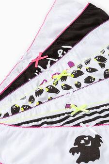 Set sette slip puro cotone fantasia, Multicolor, hi-res