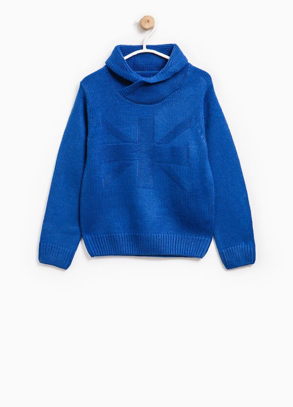 Knitted pullover with high neck | OVS