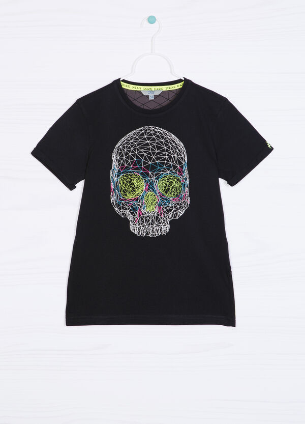 100% cotton T-shirt with skull print | OVS