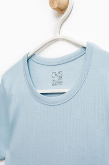 Ribbed undershirt, Light Blue, hi-res