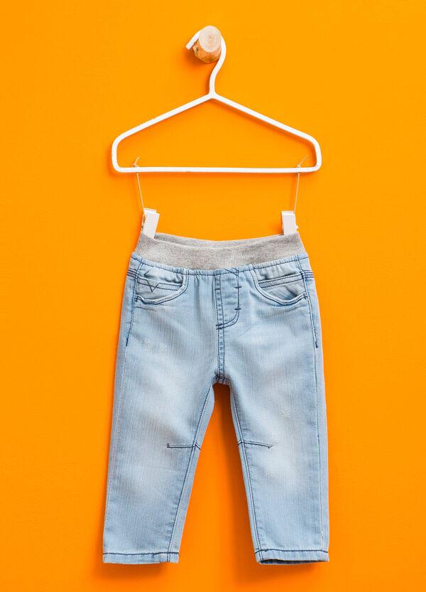 Jeans effetto used con vita elasticata | OVS