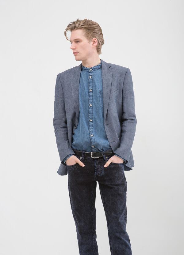 Regular fit jacket in 100% linen | OVS