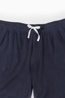 Bermuda pyjamas in 100% cotton, Navy Blue, hi-res