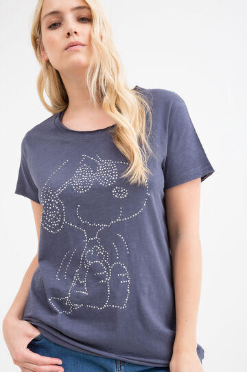 Curvy cotton blend Snoopy T-shirt