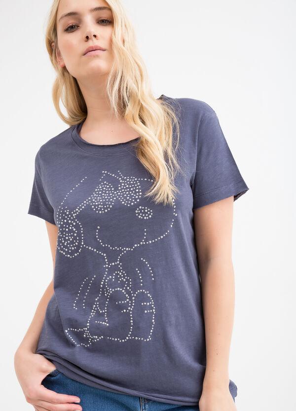 T-shirt misto cotone Snoopy Curvy | OVS