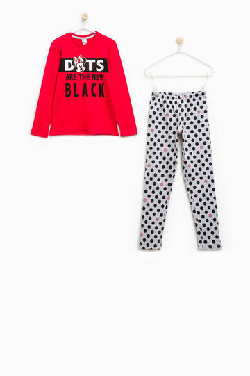 Pyjamas with Minnie Mouse and polka dot print, Grey/Red, hi-res