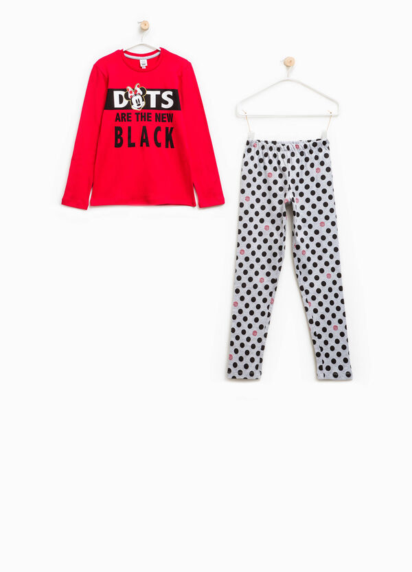 Pyjamas with Minnie Mouse and polka dot print | OVS