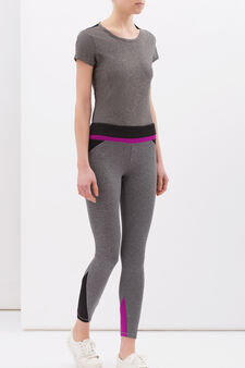 Leggings sportivi stretch, Nero/Grigio, hi-res