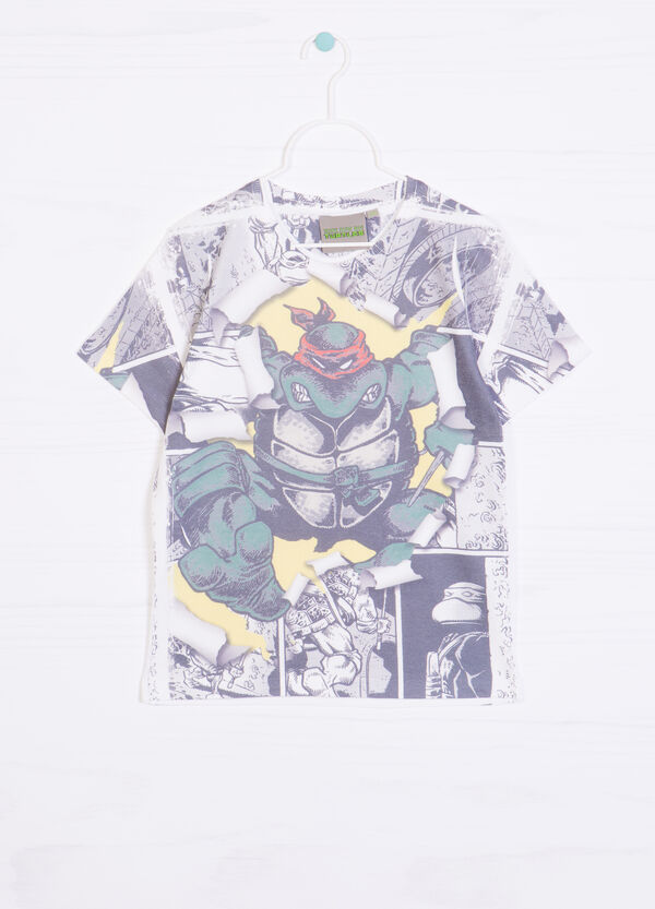 Teenage Mutant Ninja Turtle print T-shirt in 100% cotton | OVS