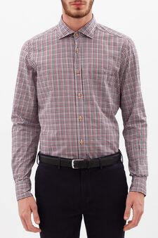 Rumford check shirt, Grey/Red, hi-res