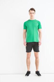 T-shirt sportiva con scollo rotondo, Verde, hi-res