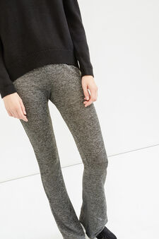 Stretch mélange leggings, Dark Grey, hi-res