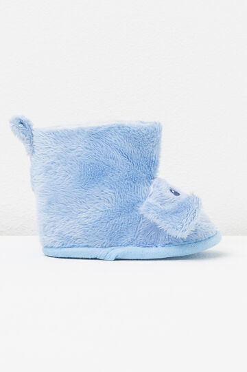 Shoes with fur and ears, Light Blue, hi-res