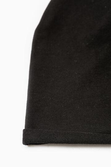 Cotton beanie cap, Black, hi-res
