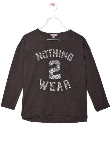 Printed stretch T-shirt, Dark Grey, hi-res